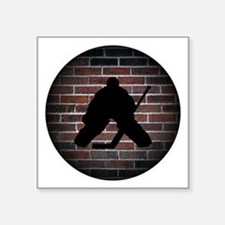 "Hockey Goalie Square Sticker 3"" x 3"""