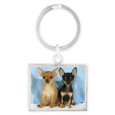 Chihuahuas 9W079D-011 Landscape Keychain