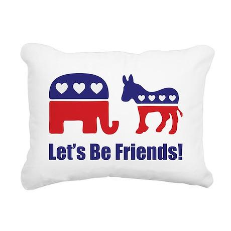 Lets Be Friends! Rectangular Canvas Pillow