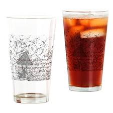 Poem XIII Drinking Glass