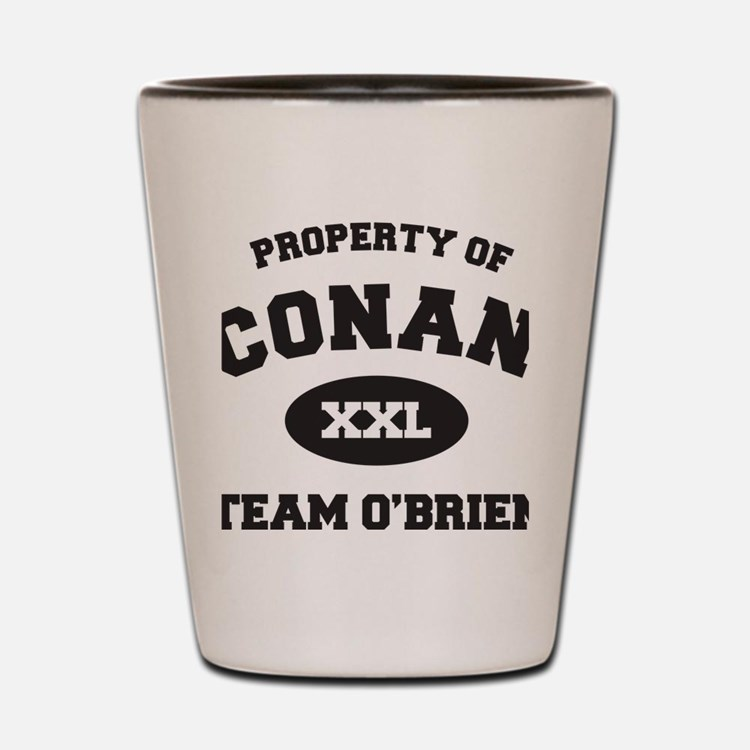 propertyofconanWHITE [Converted] Shot Glass