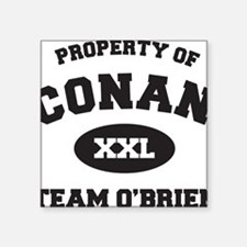 """propertyofconanWHITE [Conve Square Sticker 3"""" x 3"""""""