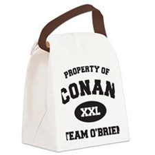 propertyofconanWHITE [Converted] Canvas Lunch Bag