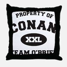 propertyofconanWHITE [Converted] Throw Pillow