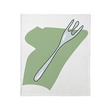 design15_fork Throw Blanket