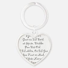 1410 Print 3 Heart Keychain