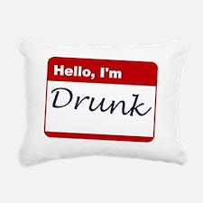 2-new shirt hello im dru Rectangular Canvas Pillow