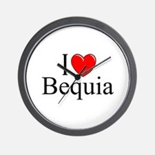 """I Love Bequia"" Wall Clock"