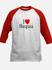 """I Love Bequia"" Kids Baseball Jersey"