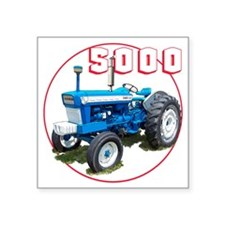 "Ford5000-C8trans Square Sticker 3"" x 3"""