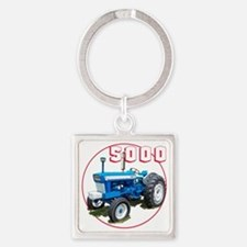 Ford5000-C8trans Square Keychain