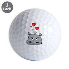 design36_hippo girl Golf Ball