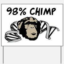 98% Chimp Yard Sign