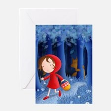 red riding hood illustration Greeting Card