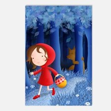 red riding hood illustrat Postcards (Package of 8)