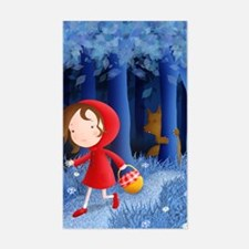 red riding hood illustration Decal