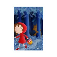 red riding hood illustration Rectangle Magnet