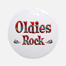 Oldies Rock Ornament (Round)