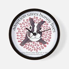 adoptionsavesbunnies-PINKtotebag Wall Clock