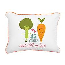 45 Year Anniversary Veggie Couple Rectangular Canv