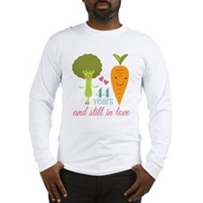 44 Year Anniversary Veggie Couple Long Sleeve T-Sh