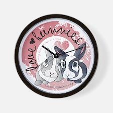 lovebunnies-SHIRTPOCKET Wall Clock