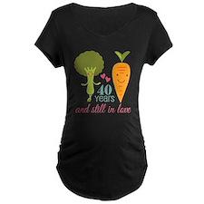 40 Year Anniversary Veggie Couple T-Shirt