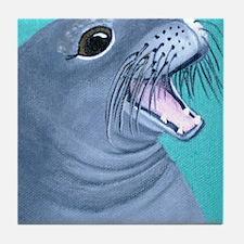 Hawaiian Monk Seal Tile Coaster