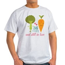 36 Year Anniversary Veggie Couple T-Shirt