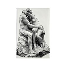 Bildhuggarkonst,_Kyssen,_af_Rodin Rectangle Magnet