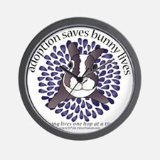 adoptionsavesbunnies-PLUMtotebag Wall Clock