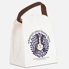 adoptionsavesbunnies-PLUMtotebag Canvas Lunch Bag