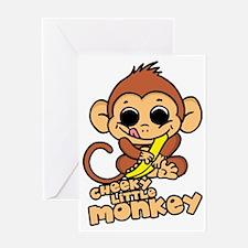 cheeky-little-monkey Greeting Card