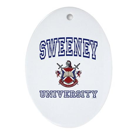 SWEENEY University Oval Ornament