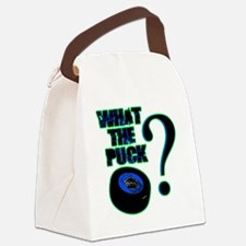 what_the_puck_green Canvas Lunch Bag