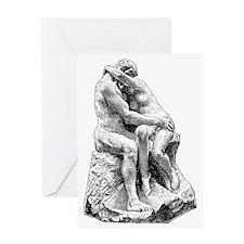 2-Bildhuggarkonst,_Kyssen,_af_Rodin, Greeting Card