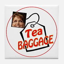 tea baggage Tile Coaster