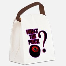 what_the_puck Canvas Lunch Bag