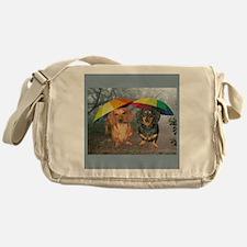 rain umbrella dogs16x16 copy Messenger Bag