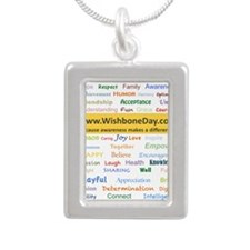 Wish Words Silver Portrait Necklace