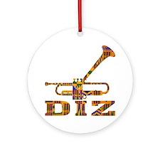 Dizzy Trumpet Kente.gif Round Ornament
