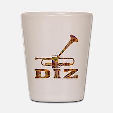 Dizzy Trumpet Kente.gif Shot Glass