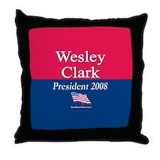 """Wesley Clark for President"" Throw Pillow"