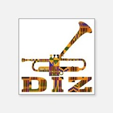 "Dizzy Trumpet Kente.gif Square Sticker 3"" x 3"""