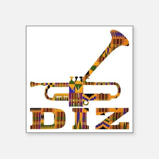 """Dizzy Trumpet Kente.gif Square Sticker 3"""" x 3"""""""
