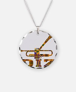 Dizzy Trumpet Kente.gif Necklace