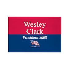 """Wesley Clark 2008"" Rectangle Magnet"
