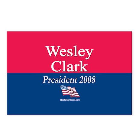 """""""Wesley Clark for President"""" Postcards (8)"""