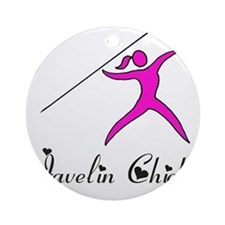 Javelin chick Round Ornament