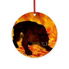 hellhound blanket Round Ornament